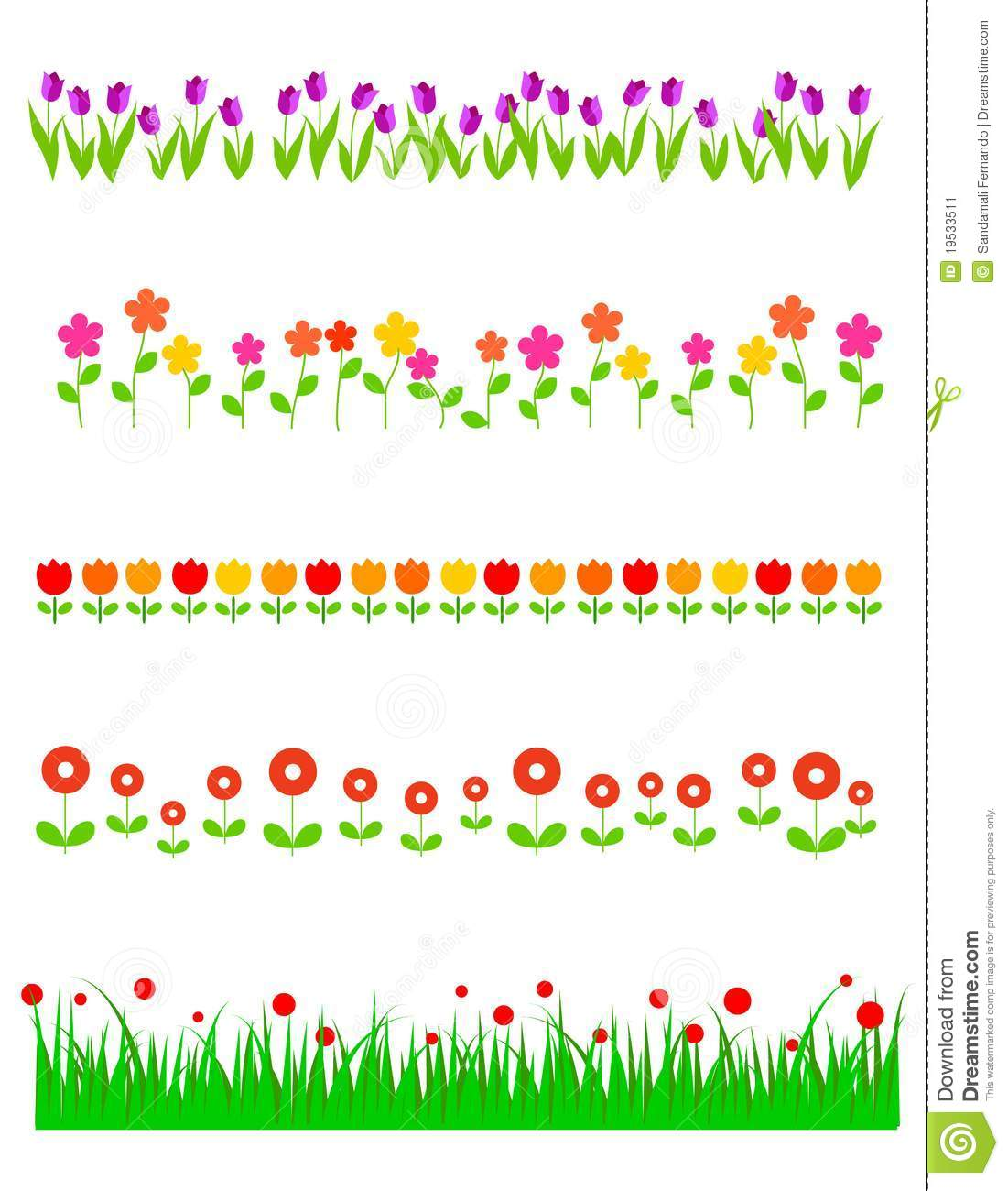 flower border lines 20 free cliparts