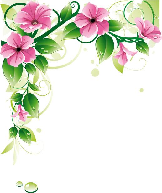 Flower Border Background.