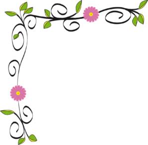 Flower Border Line Clipart.