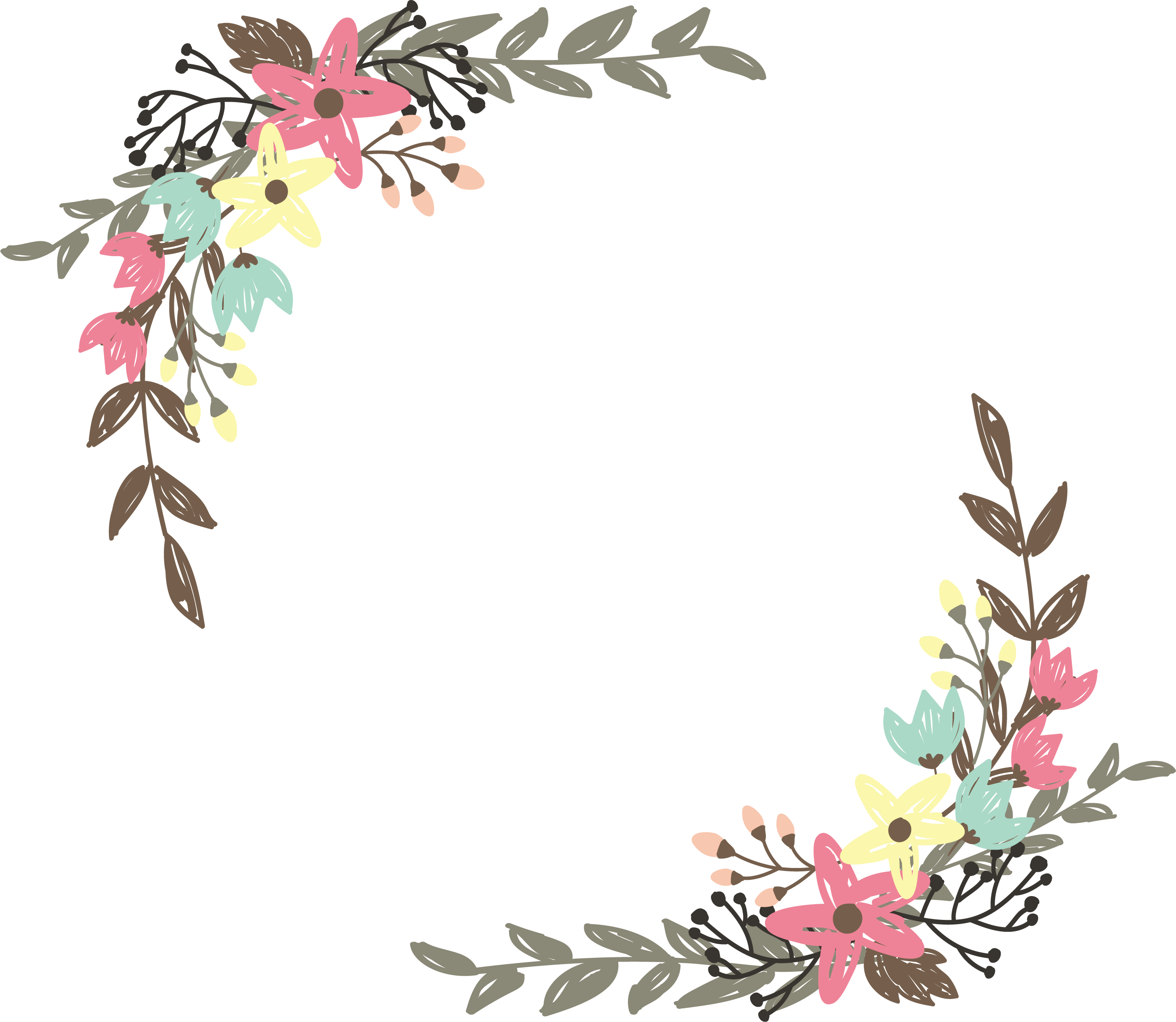 Flower borders clipart images gallery for free download.