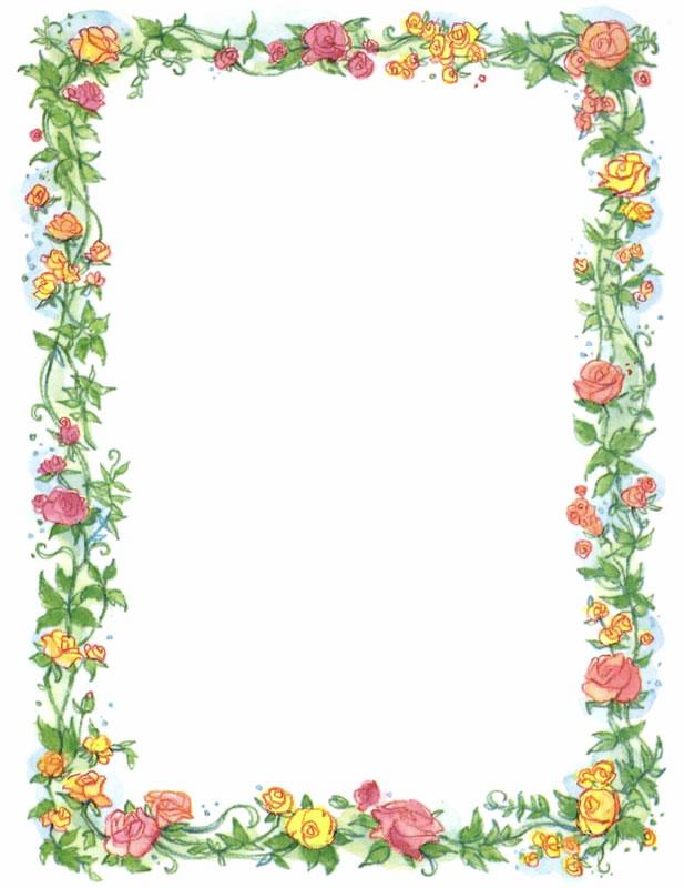 Free Printable Flower Page Borders.
