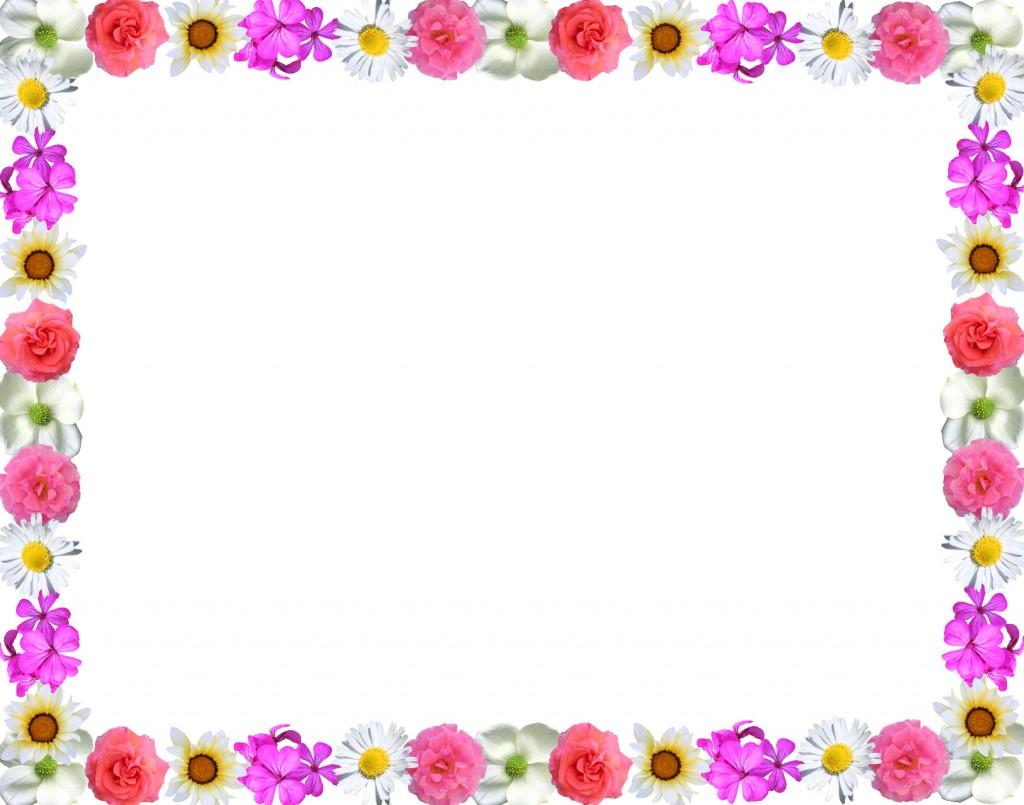 free flower border clipart.