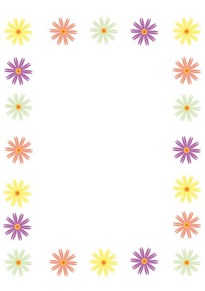 Free Flowers Borders.