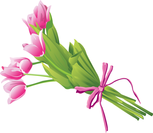 Lily Flower Bouquet Clipart.