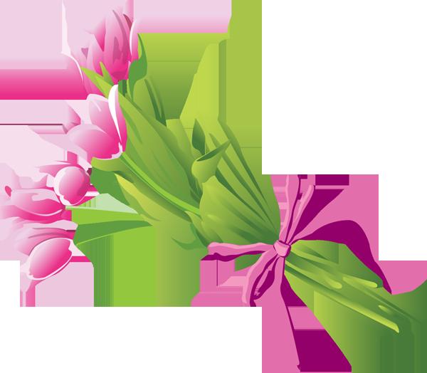 Lily Flower Bouquet Clipart.