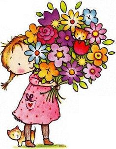 Cute flower bouquet clipart free.