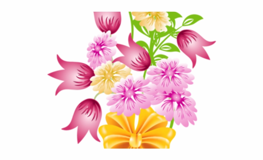 Pink Flower Clipart Transparent Background.