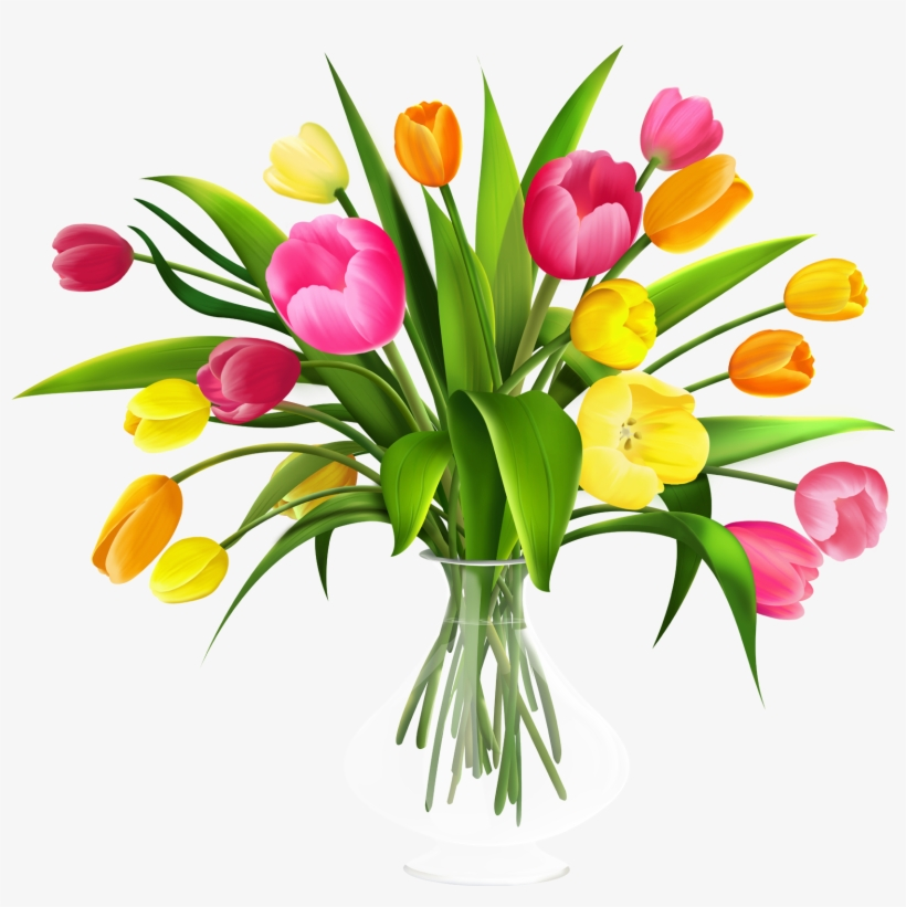 Free Clip Art Flowers In Vase.