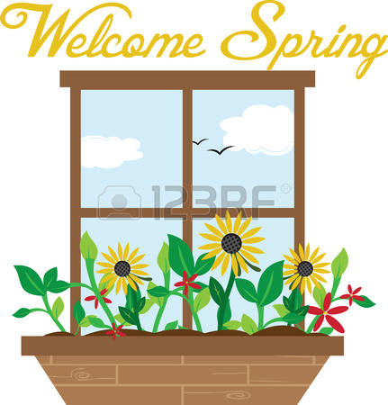 202 Window Flower Box Stock Vector Illustration And Royalty Free.