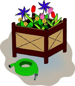 Flower box free clipart.