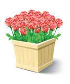 Flower box free clipart.