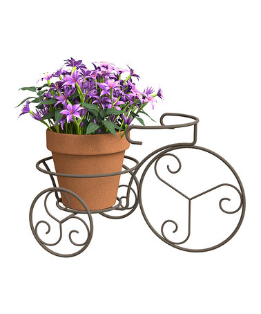 Panacea Products Black Finial Flower Box Holder.