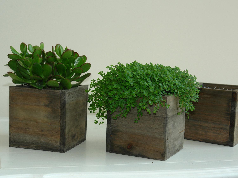 Wood planter.