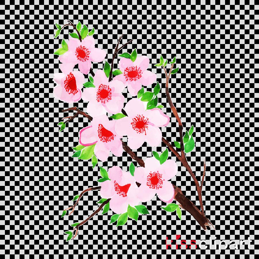 flower branch plant twig cut flowers clipart.