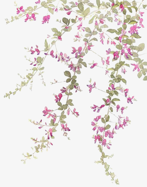 Full Of Flowers, Purple, Flowers, Branches PNG Transparent Clipart.
