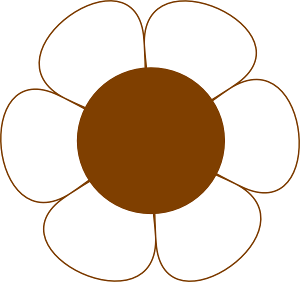 Brown Flower Clip Art at Clker.com.