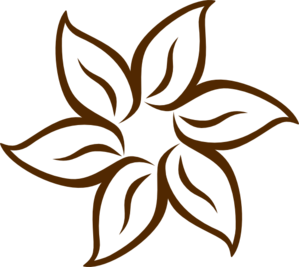 Brown Flower clip art.