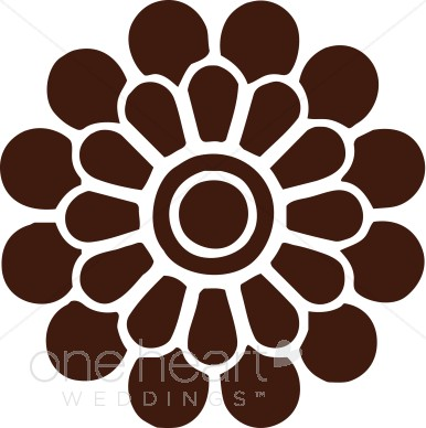 Brown Modern Flower Clipart.