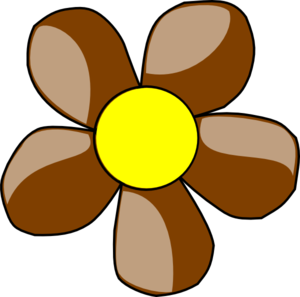 Brown Flower Clipart.