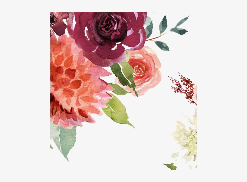 Free Floral Watercolor Ps Stamp Brushes Png.