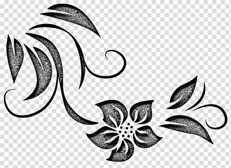 Decorative Brushes , gray floral illustration transparent.