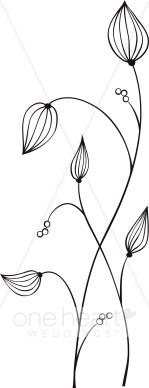 Flower Pods Clip Art.