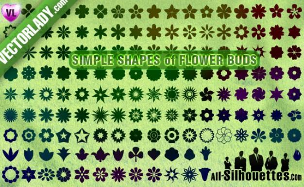 Flower Buds Clipart Vector.