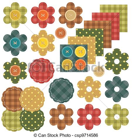 Colored sewing button collection Vector Clipart Royalty Free. 359.