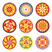 Clip Art of Indian floral patterns.