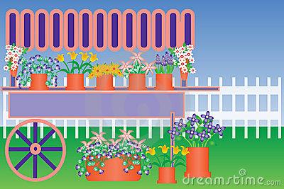 Flower cart clipart #13