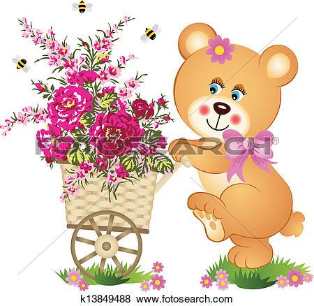 Stock Illustration of Flower Cart k4814957.