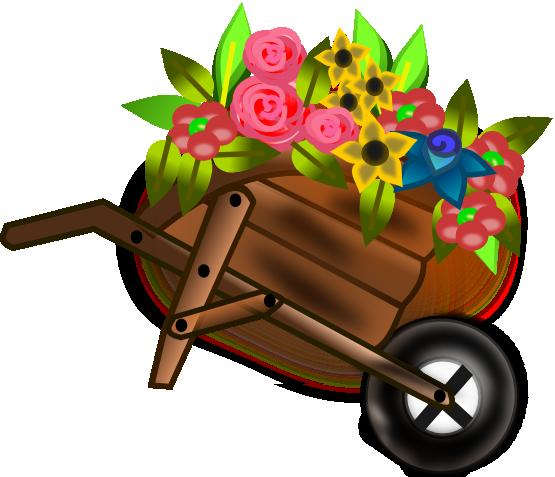 Free Flower Cart Clip Art.
