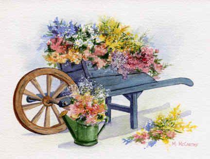 Flower Cart' by Maureen McCarthy.