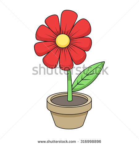 Cartoon Flowers Stock Images, Royalty.