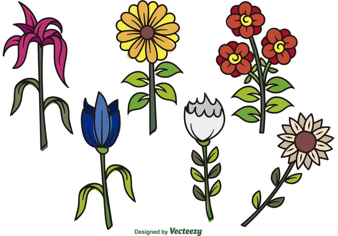 Flower Vector Cartoon.