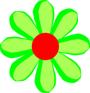 Flower Cartoon Green Clip Art at Clker.com.