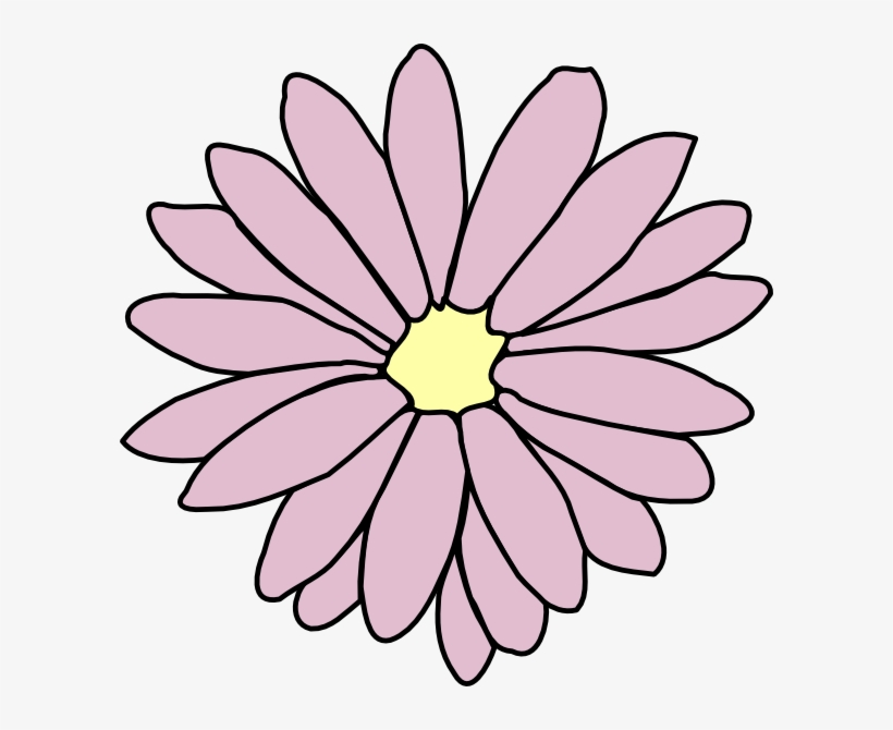 Pink Flower Clipart Flower Chain.