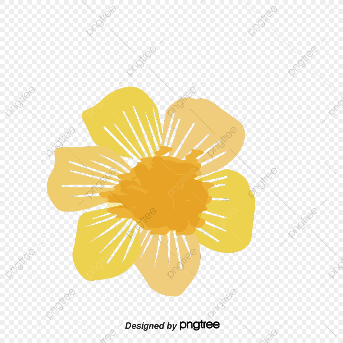 Watercolor Daisy Chain, Vector Png, Colorful Flowers, Romantic.