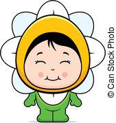 Clip Art Vector of Child Flower.