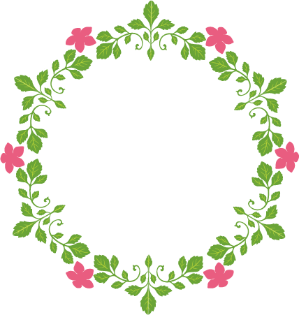 Flower circle clipart.