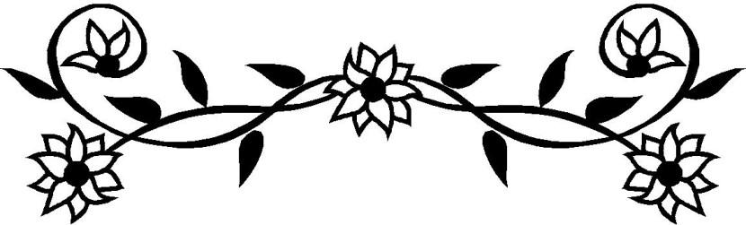 Flower Border Clipart Black And White.