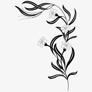 PNG Flower Black And White Cliparts & Cartoons Free Download.