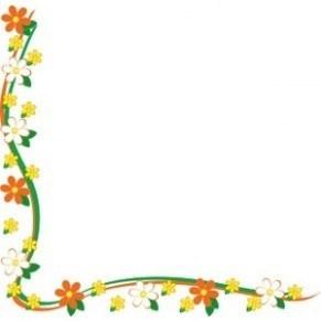 Flower border clip art borders flowers image.