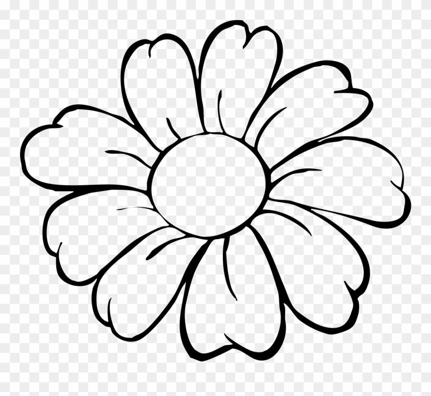 Flower Pot Bw Outline Clip Art.