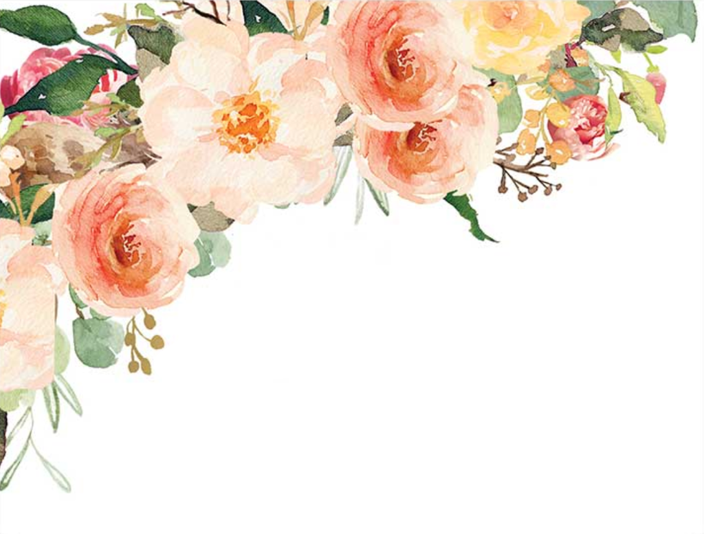 watercolor border frame corner flowers floral clipart.