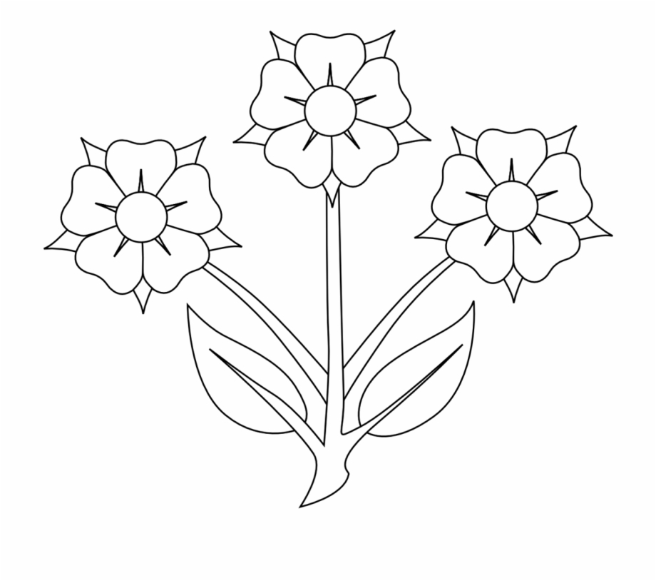 Black White Flower Clip Art.