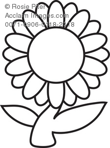 170 Flowers Black And White free clipart.