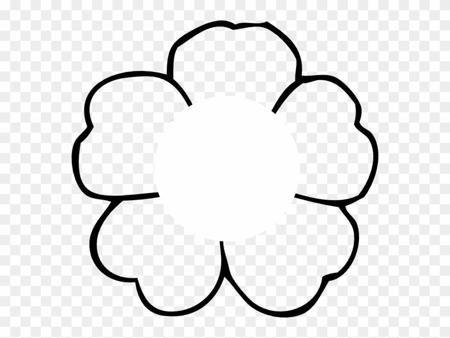 Flower Outline To Print No Center Clip.