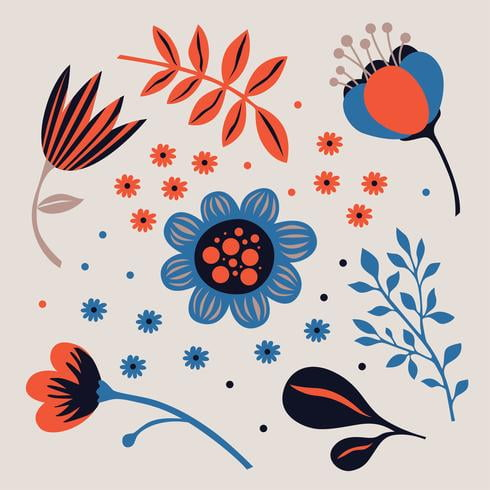 Flower Clipart Pack ai, svg file.