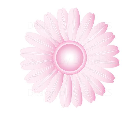 Digital flower clipart Gerbera Daisy Pastel Flower png flower clip.